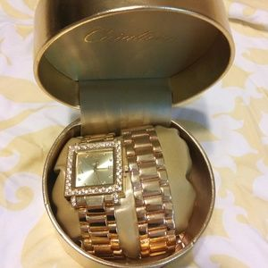 Durations Stainless Steel gold watch